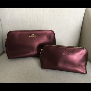 Coach cosmetic cases